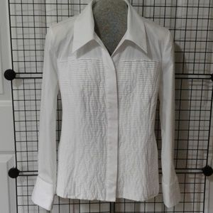 Tuxedo Blouse, fit/ stretch. NWT